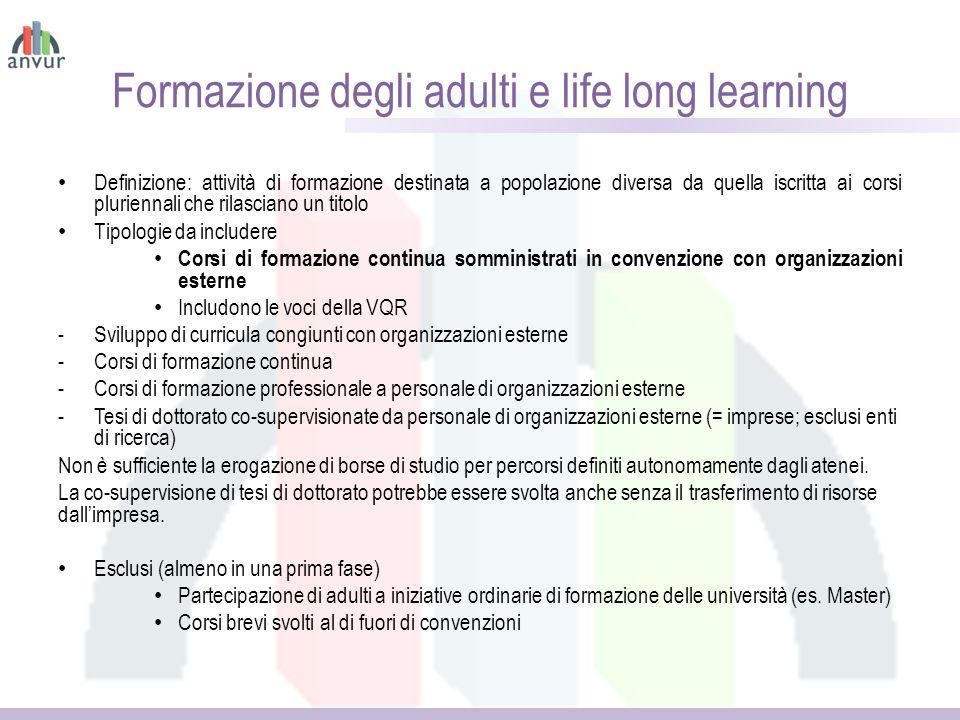 Formazione degli adulti e life long learning
