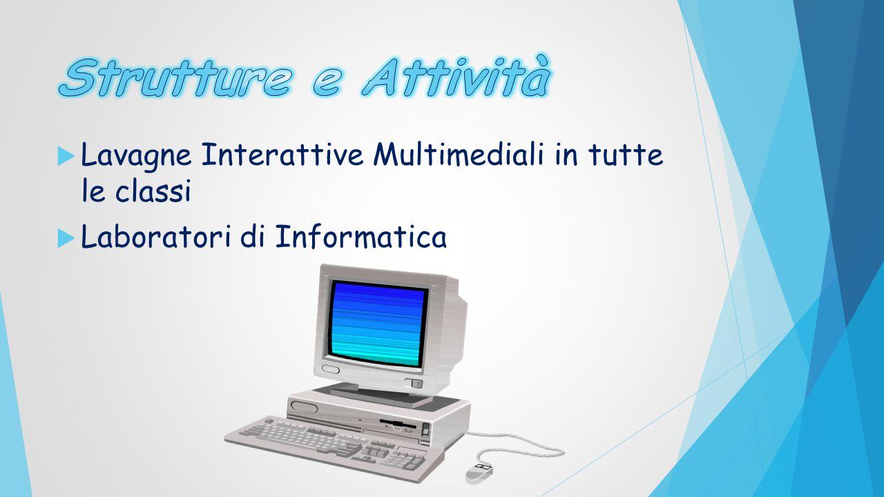 Strutture e Attività Lavagne Interattive Multimediali in tutte le classi Laboratori di Informatica