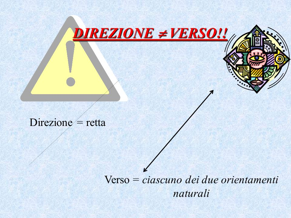 Verso = ciascuno dei due orientamenti naturali