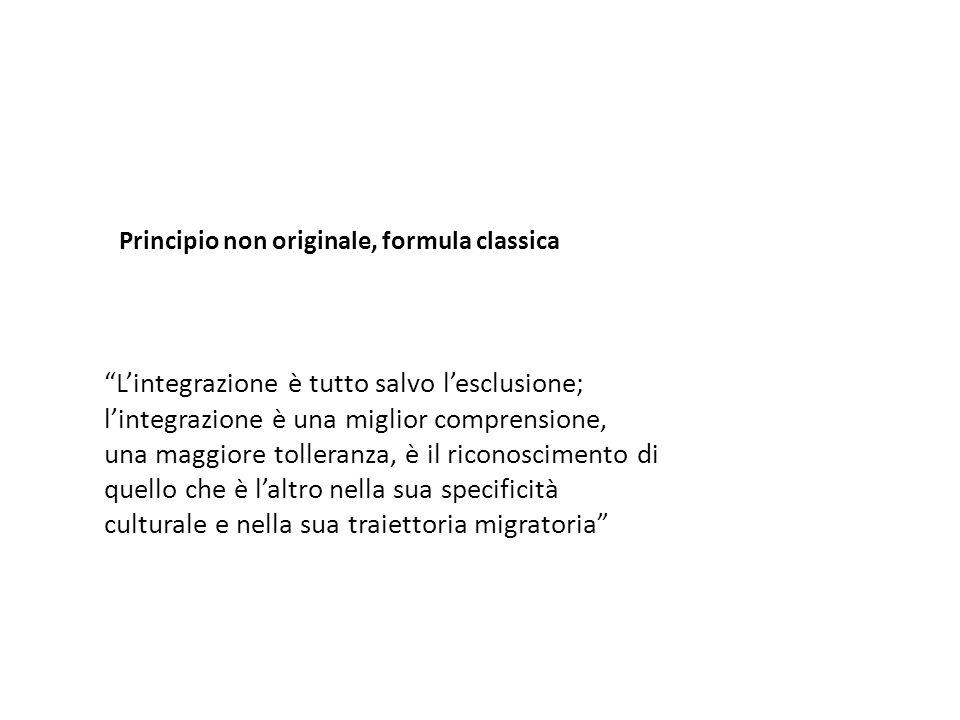 Principio non originale, formula classica