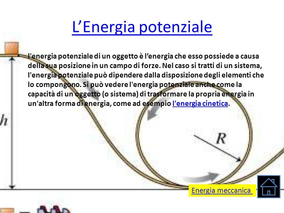 L'Energia potenziale