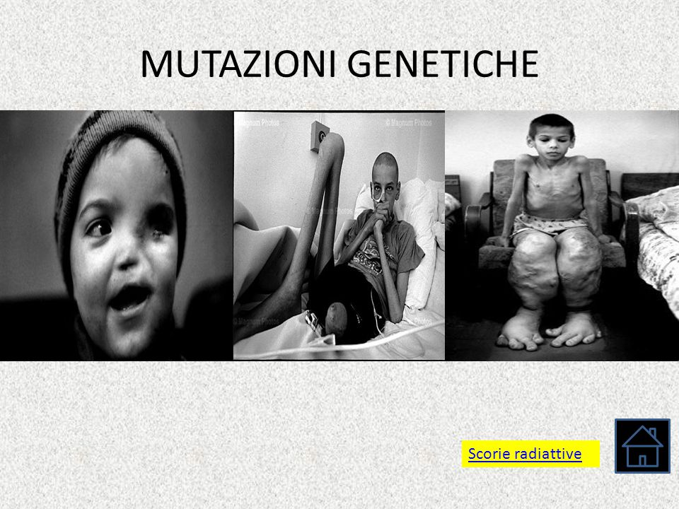MUTAZIONI GENETICHE Scorie radiattive