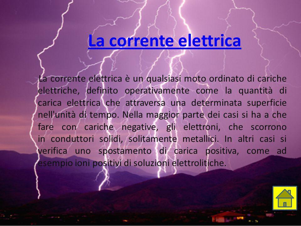 La corrente elettrica