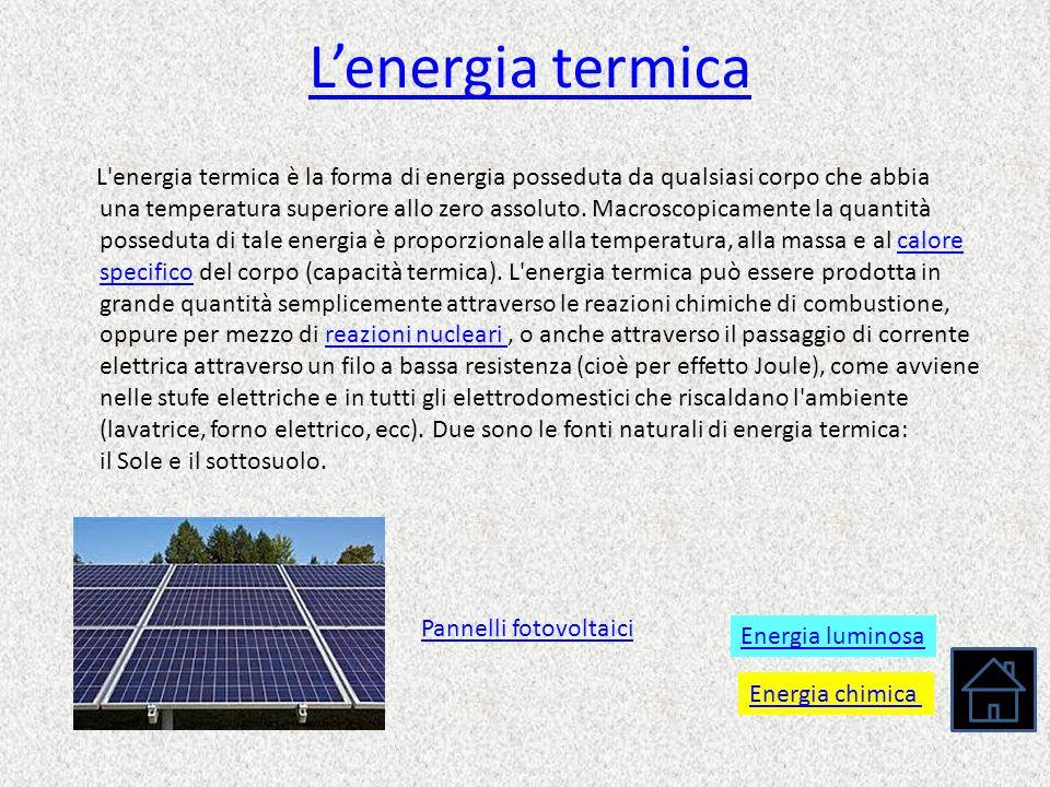 L'energia termica