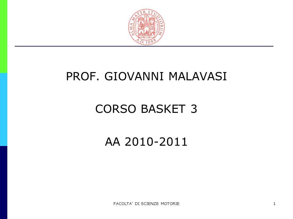 PROF. GIOVANNI MALAVASI CORSO BASKET 3 AA 2010-2011