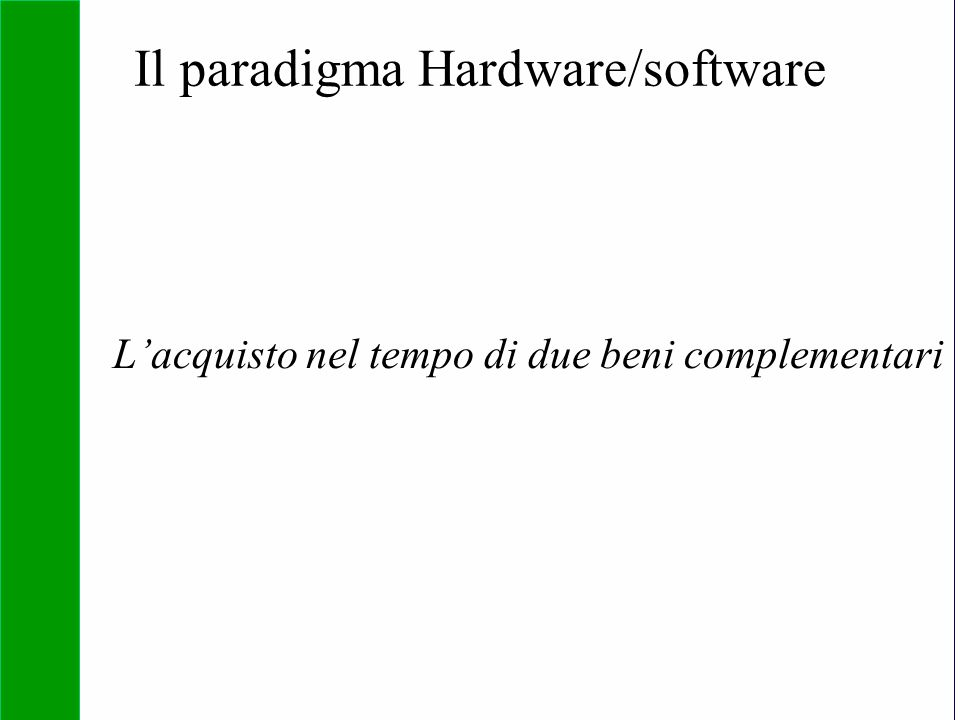 Il paradigma Hardware/software
