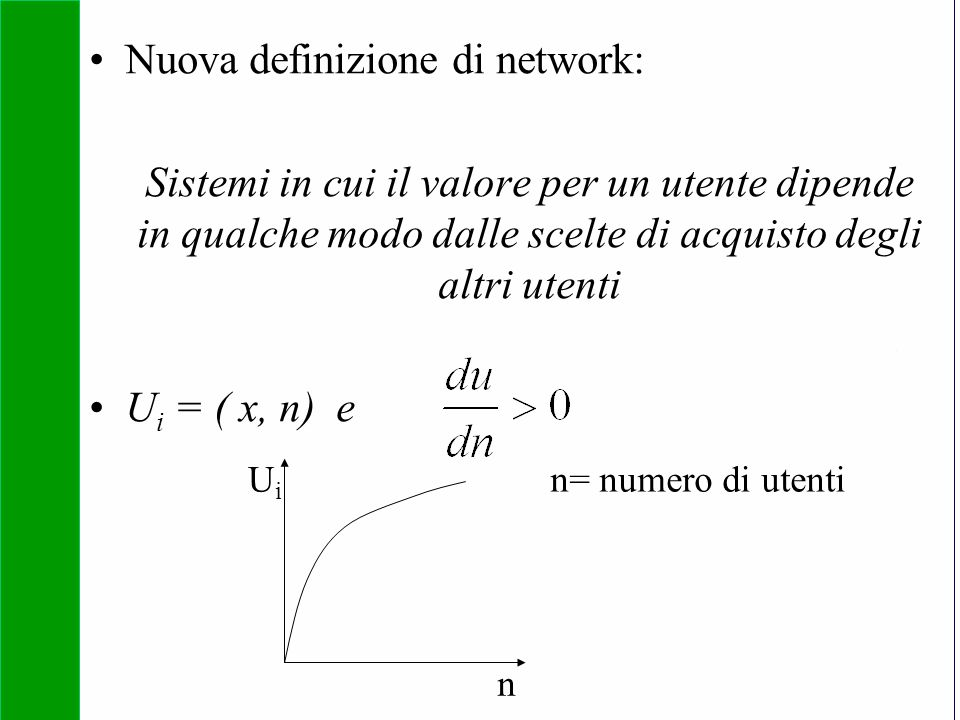 Nuova definizione di network: