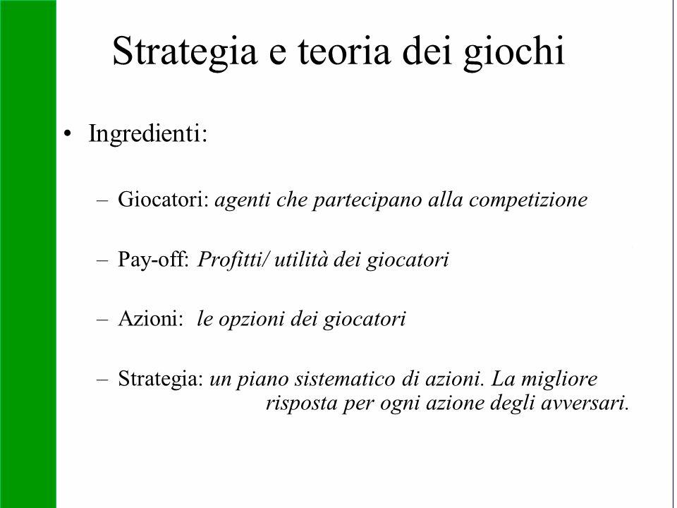 Strategia e teoria dei giochi