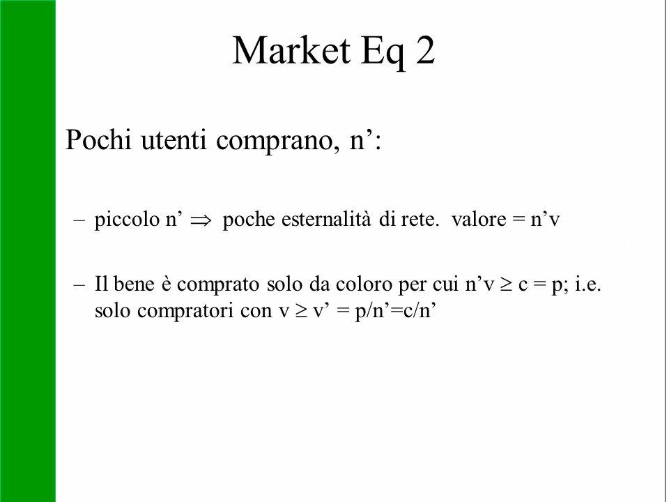 Market Eq 2 Pochi utenti comprano, n':