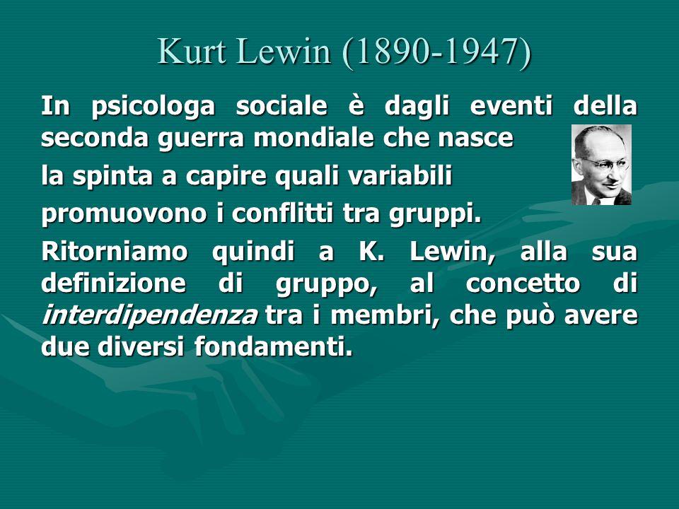 Kurt Lewin (1890-1947) In psicologa sociale è dagli eventi della seconda guerra mondiale che nasce.
