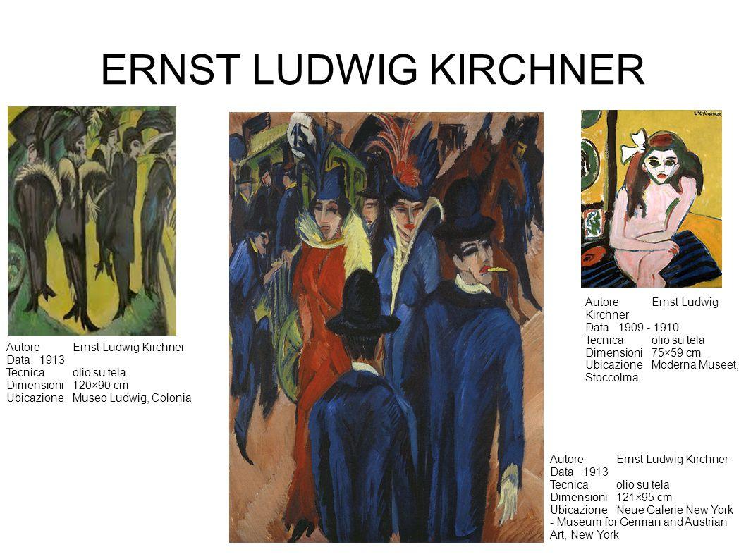 ERNST LUDWIG KIRCHNER Autore Ernst Ludwig Kirchner Data 1909 - 1910
