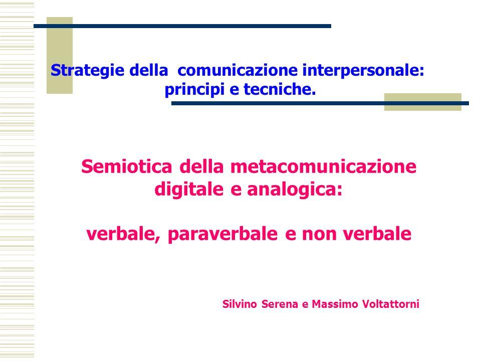Semiotica della metacomunicazione digitale e analogica:
