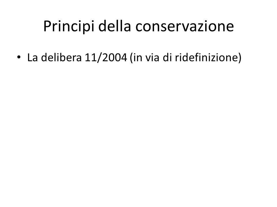 Principi della conservazione