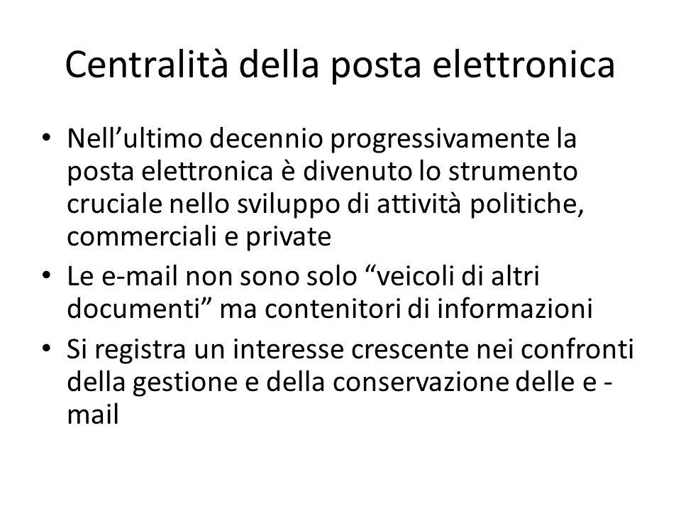 Centralità della posta elettronica