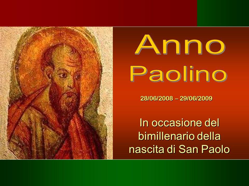 In occasione del bimillenario della nascita di San Paolo