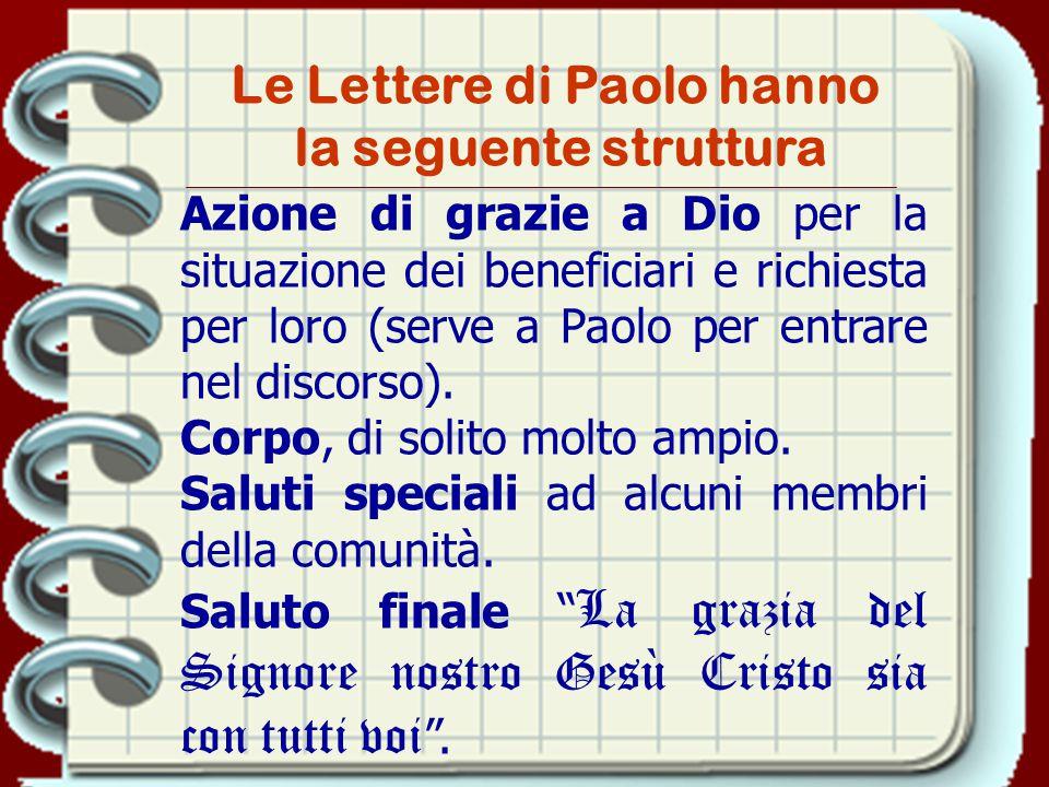 Le Lettere di Paolo hanno