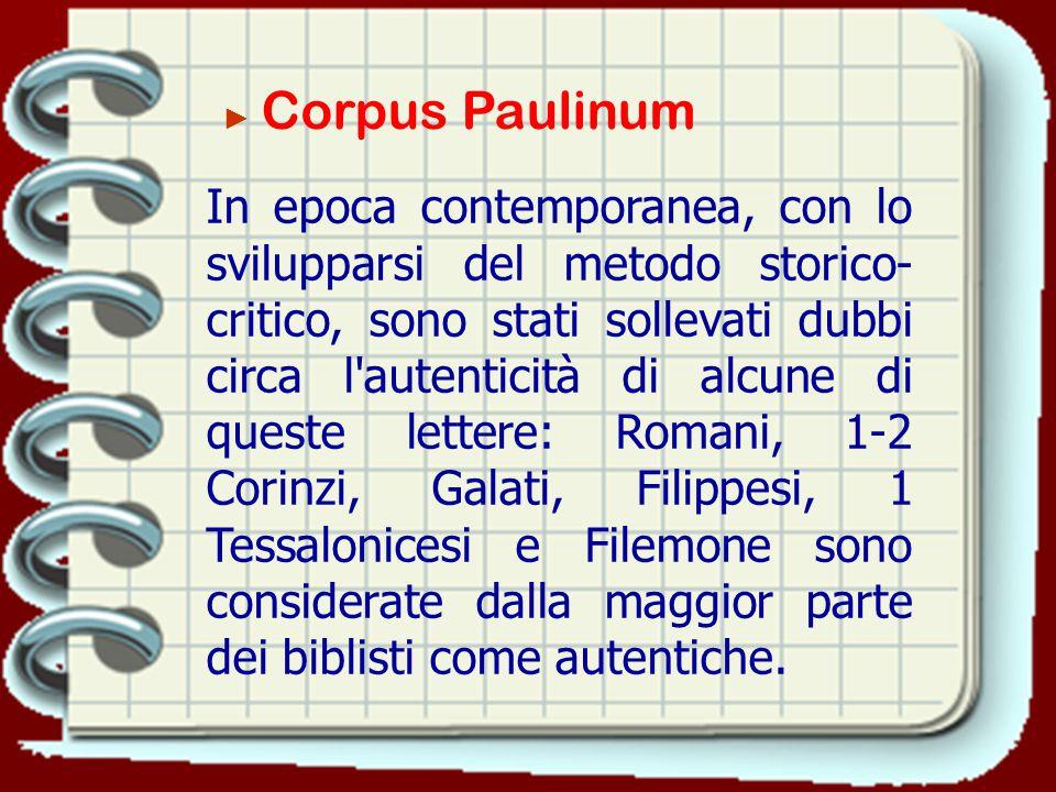 ► Corpus Paulinum