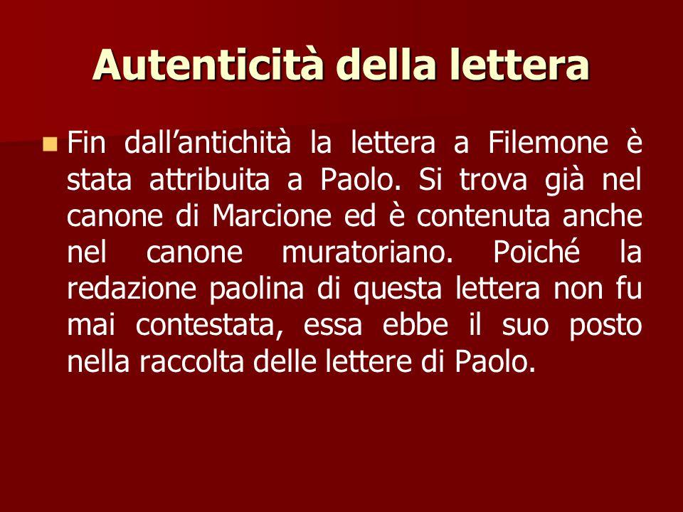 Autenticità della lettera
