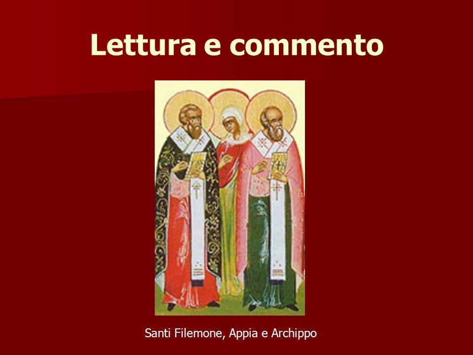 Santi Filemone, Appia e Archippo