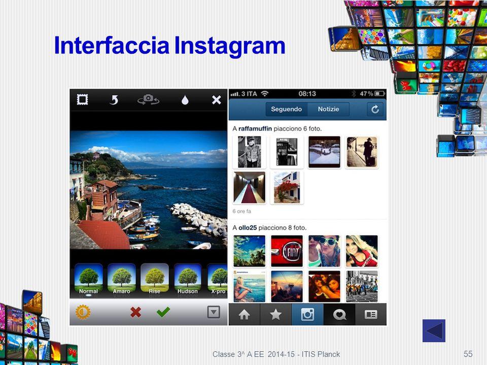 Interfaccia Instagram