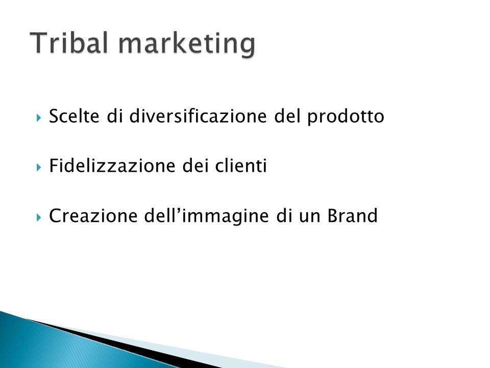 Tribal marketing Scelte di diversificazione del prodotto