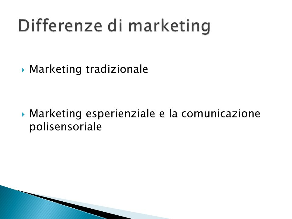 Differenze di marketing