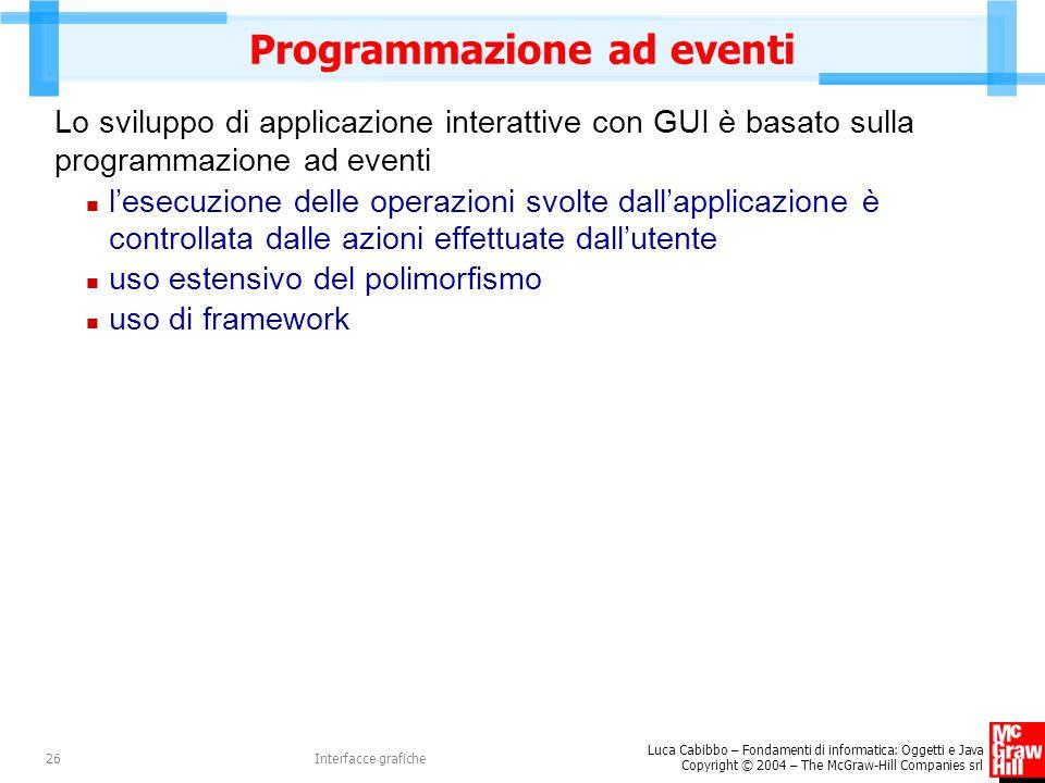 Programmazione ad eventi