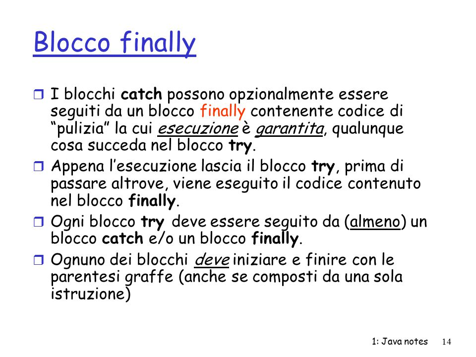 Blocco finally
