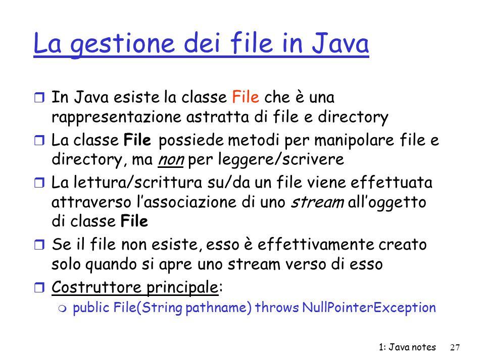 La gestione dei file in Java