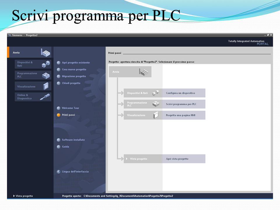 Scrivi programma per PLC