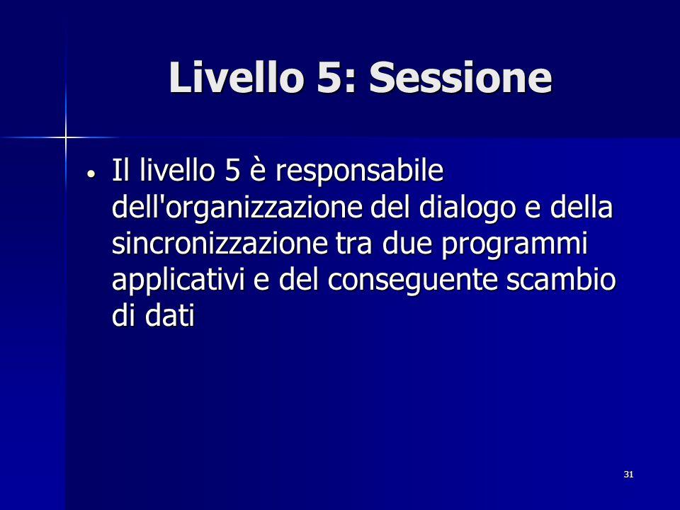 Livello 5: Sessione
