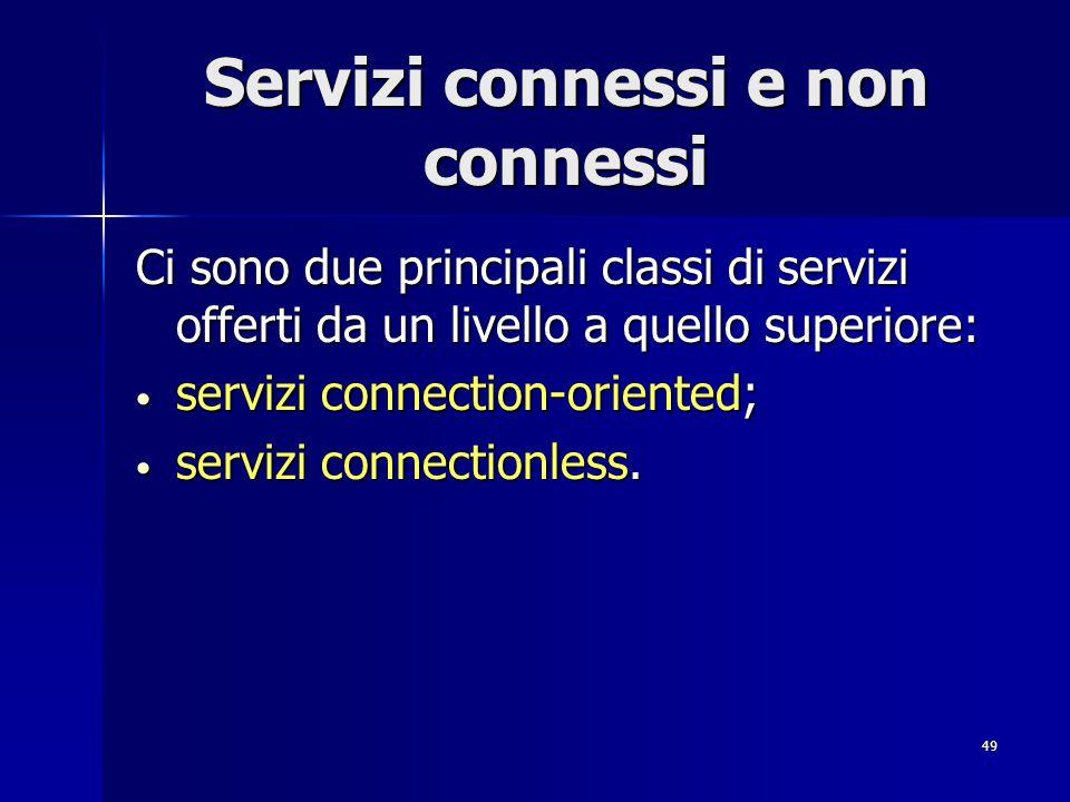Servizi connessi e non connessi