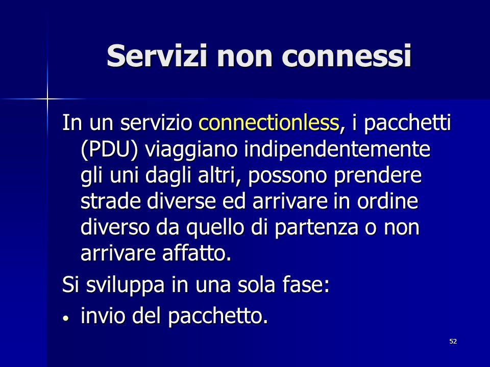 Servizi non connessi