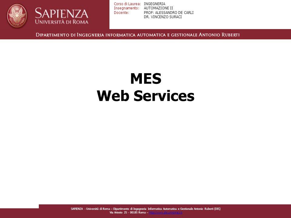 MES Web Services