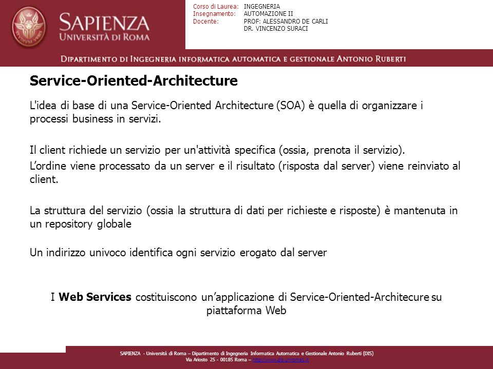 Service-Oriented-Architecture