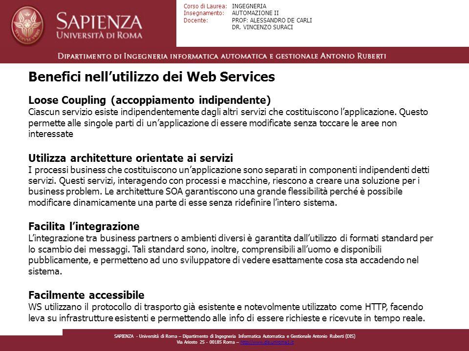 Benefici nell'utilizzo dei Web Services