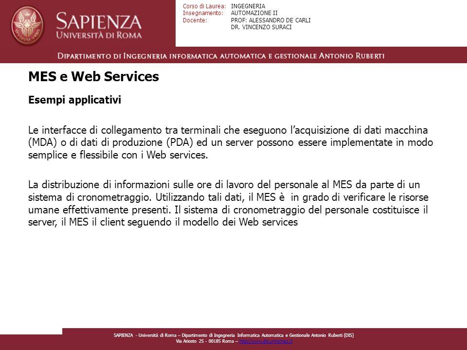 MES e Web Services