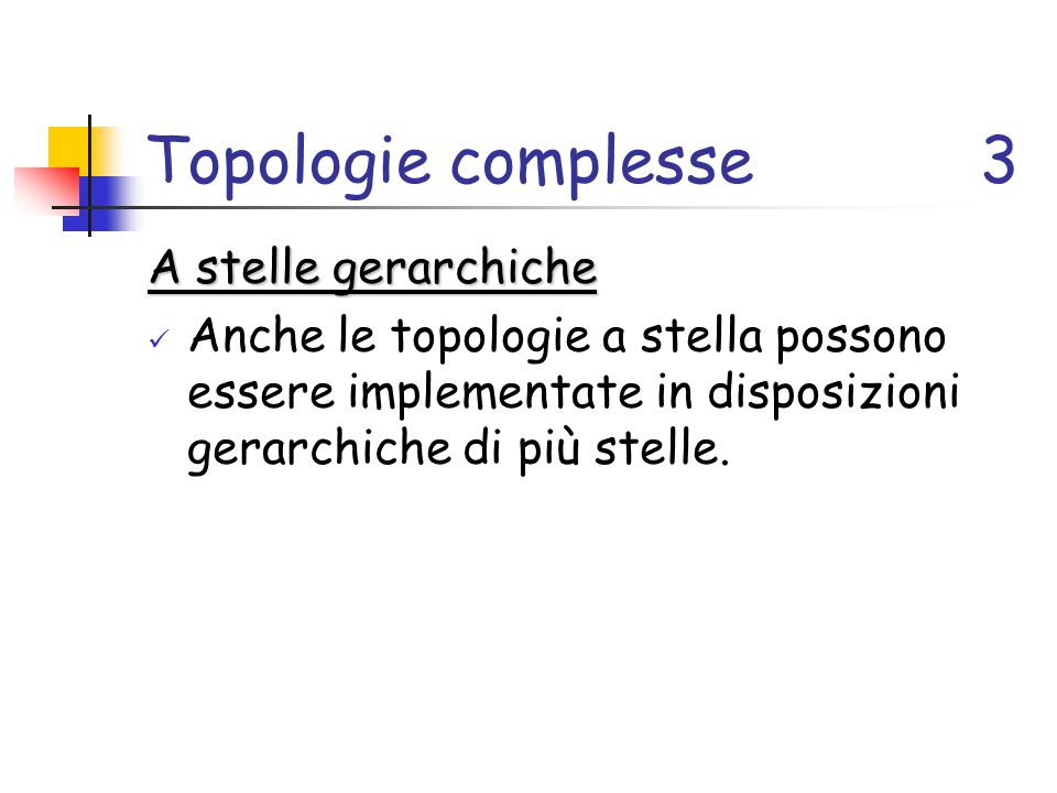 Topologie complesse 3 A stelle gerarchiche