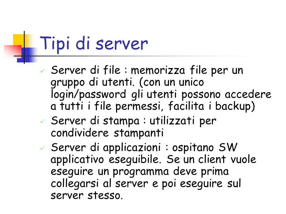 Tipi di server