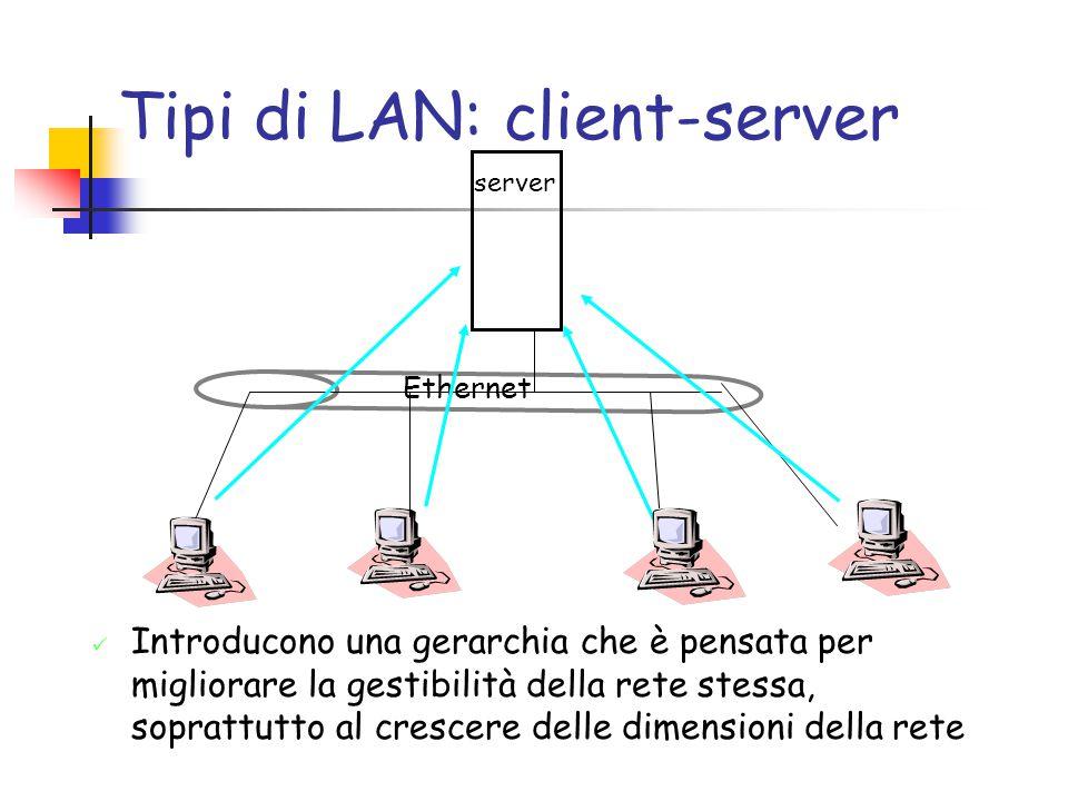 Tipi di LAN: client-server