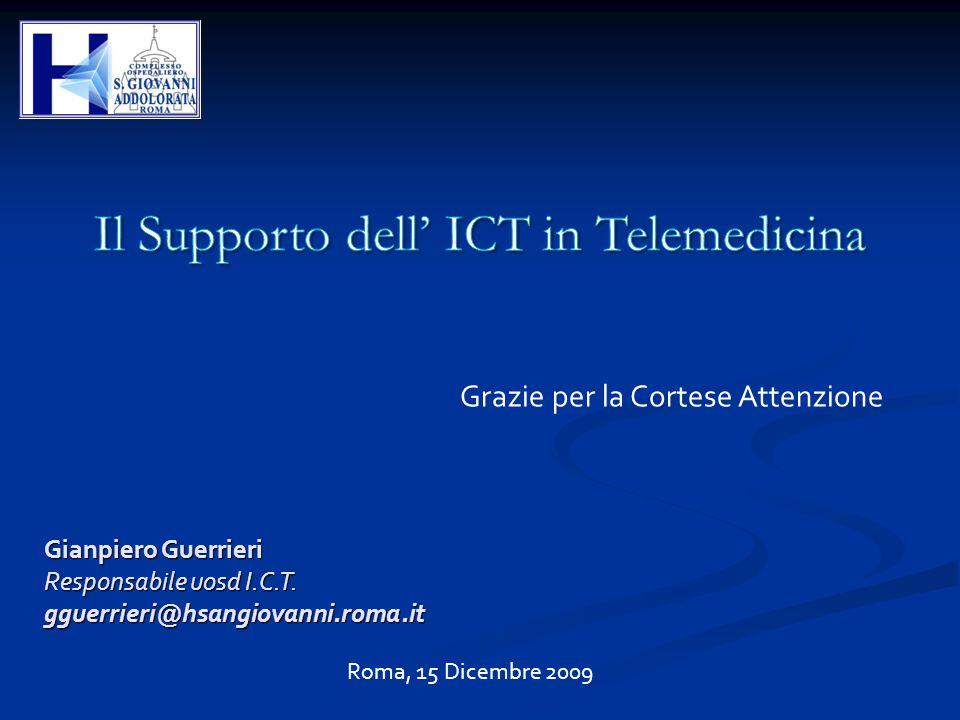 Il Supporto dell' ICT in Telemedicina