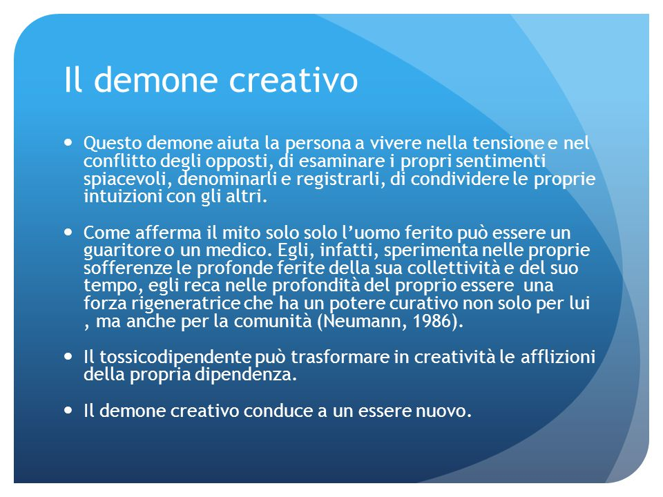Il demone creativo