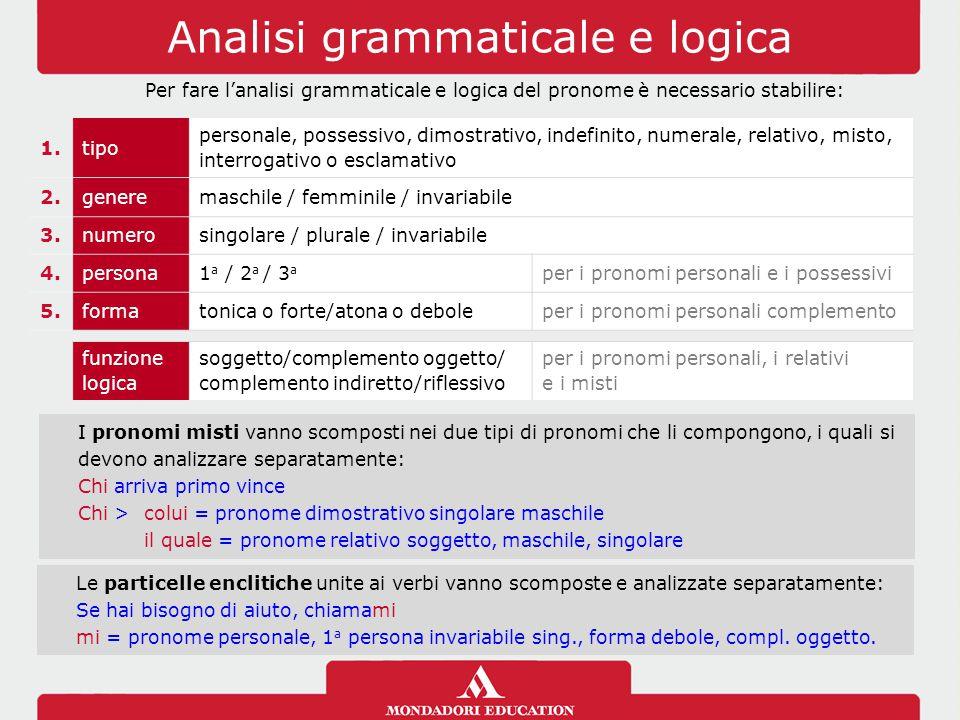 Analisi grammaticale e logica