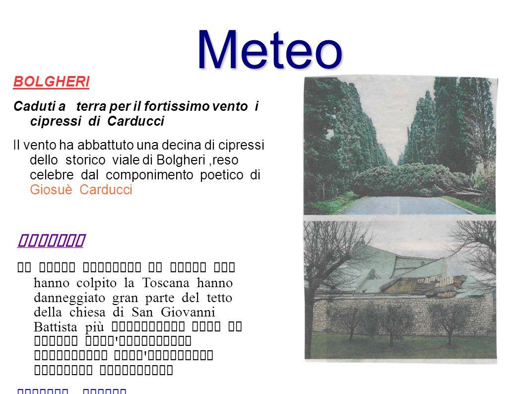 Meteo Firenze BOLGHERI