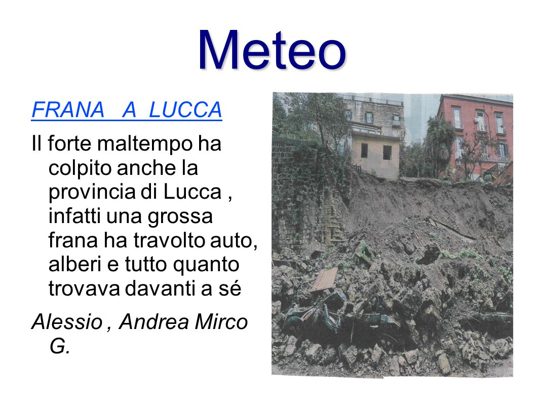 Meteo FRANA A LUCCA.