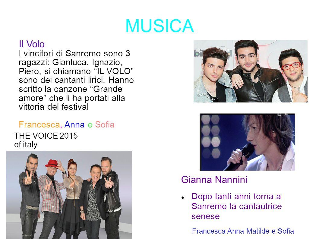 MUSICA Il Volo Gianna Nannini