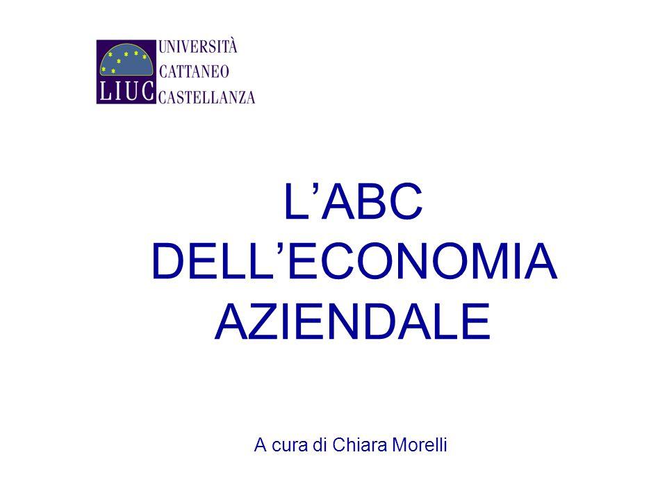 L'ABC DELL'ECONOMIA AZIENDALE