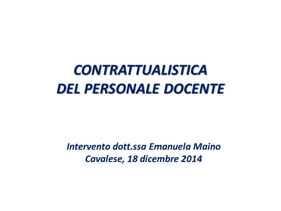 CONTRATTUALISTICA DEL PERSONALE DOCENTE