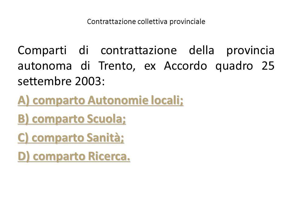 Contrattazione collettiva provinciale