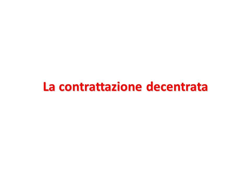 La contrattazione decentrata